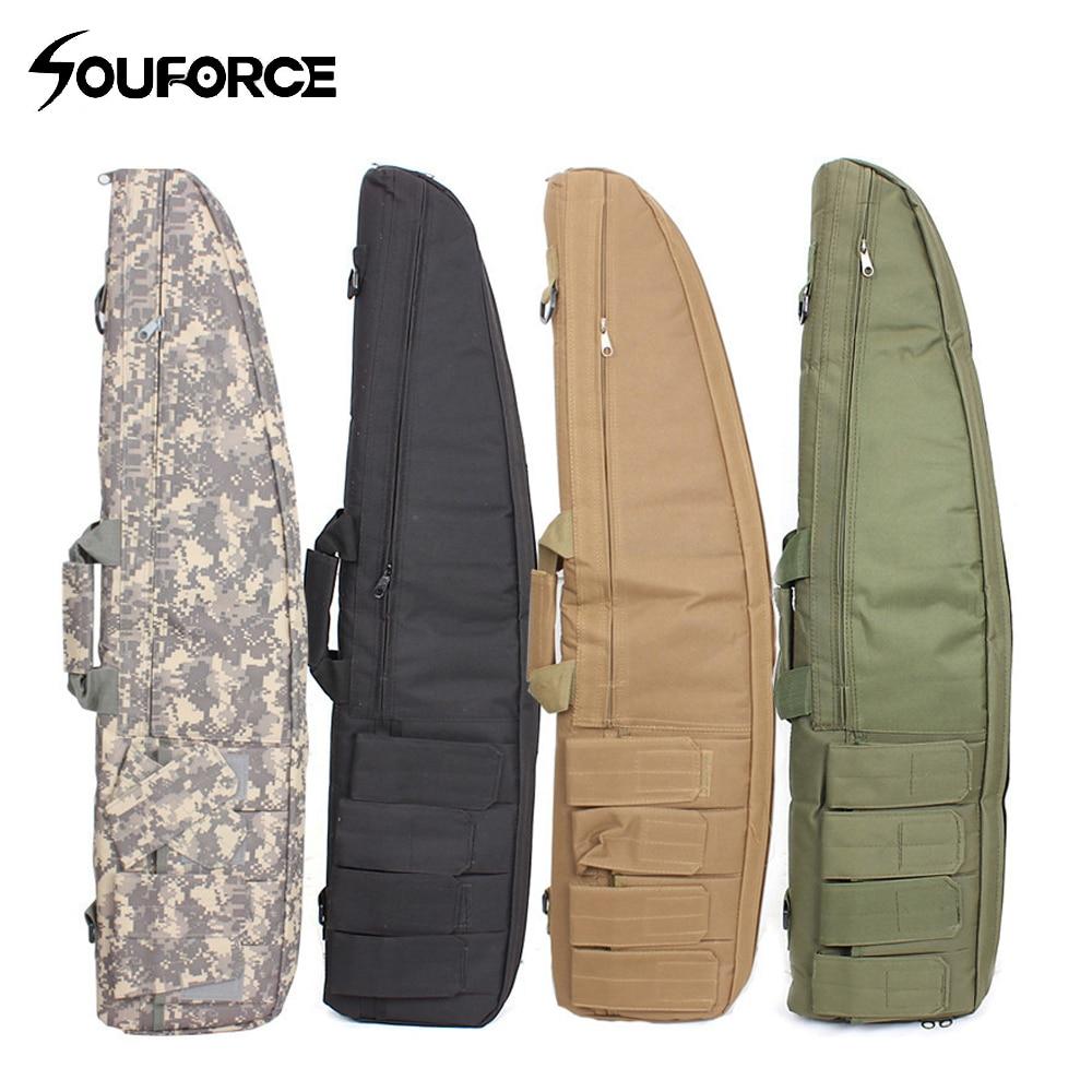 120 cm tactique pistolet Slip biseau fusil sac chasse Airsoft Gear sac à dos sacs de transport mallette à fusil épaule Mag poche sac