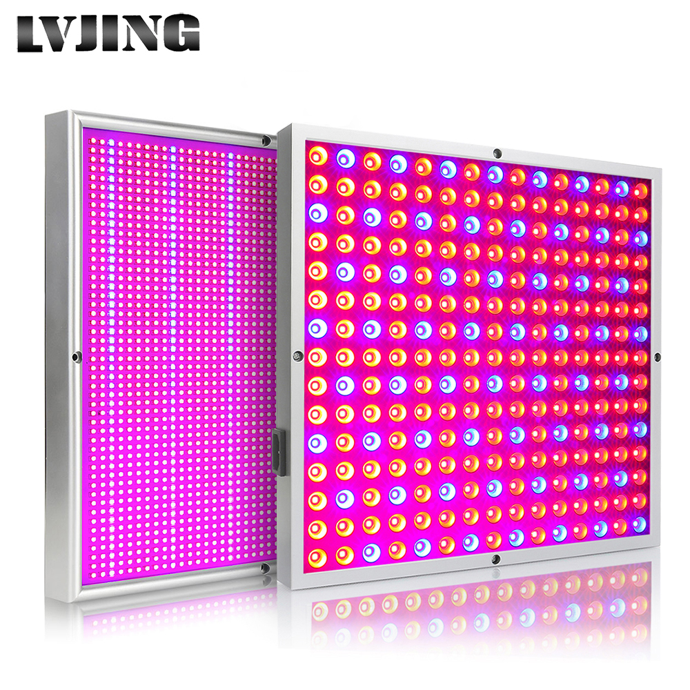 LVJING 45W 200W Reflector Cup Full Spectrum LED Grow Lights For Grow Tent Box Indoor Greenhouse Commercial Hydro Plant Seed Lamp image