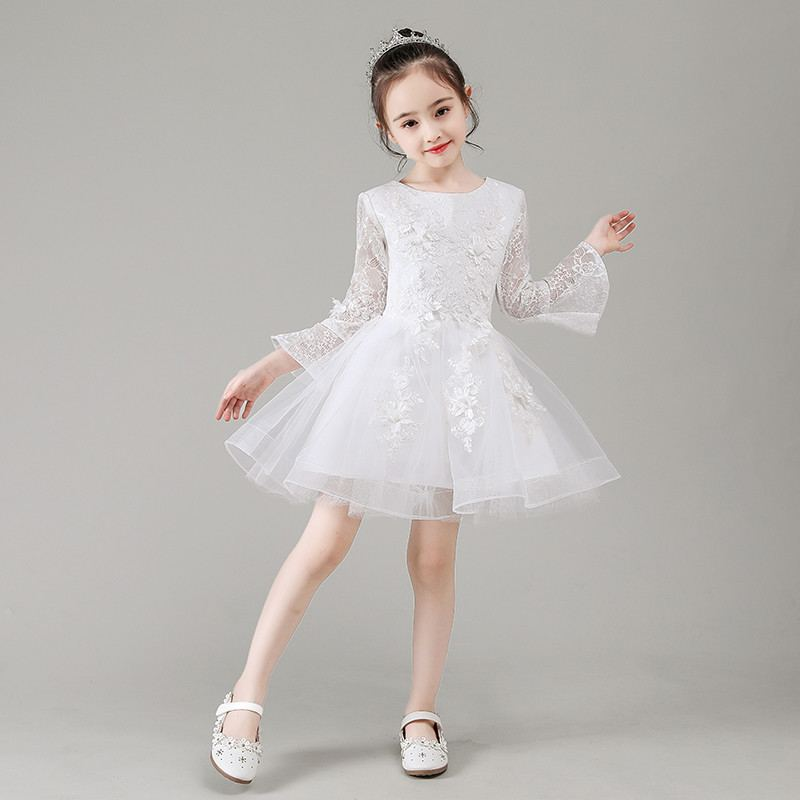 New Children Girls Mesh Lace Flowers Tutu Princess Dress Toddler Girl Clothes Vestidos Kids Dresses For Girls Wedding Party F97New Children Girls Mesh Lace Flowers Tutu Princess Dress Toddler Girl Clothes Vestidos Kids Dresses For Girls Wedding Party F97