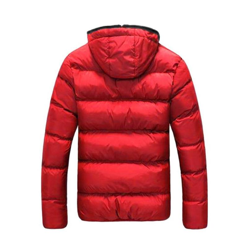 2019 Winter Cotton Warm Outwear Parka Winter Jacket Men Hooded Collar Coat Mens Warm Down Casual Coats with Zipper Pocket 9