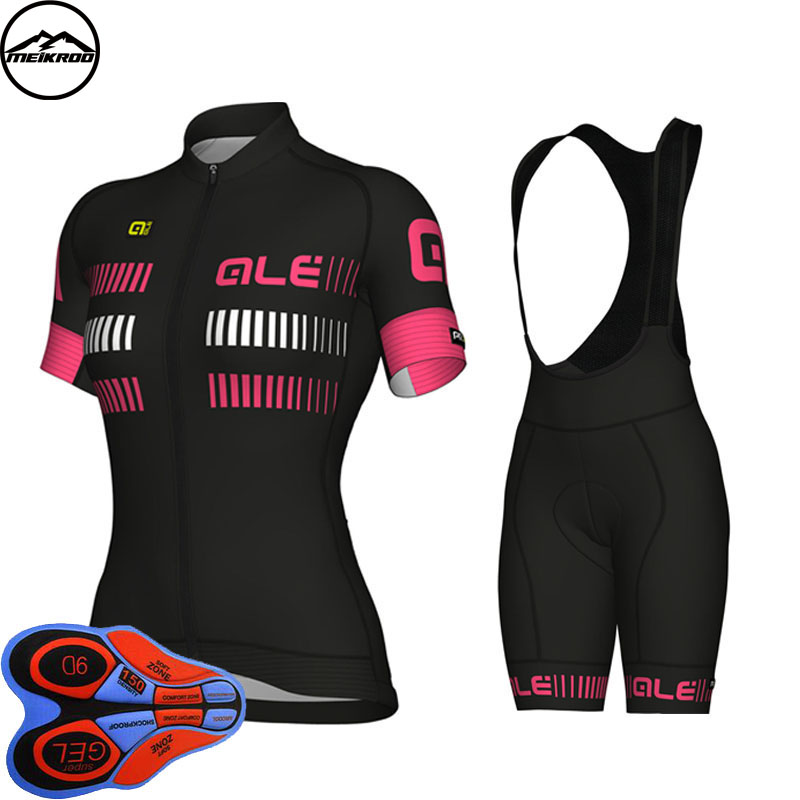 2018 Cycling Jersey set Women Short Sleeve Breathable ropa Ciclismo Mountain Bike shirts bicycle Jersey bib shorts 9D gel pad