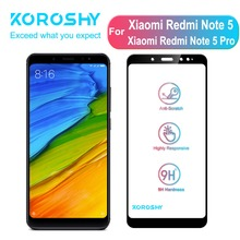 KOROSHY 9H Tempered Glass for Xiaomi Redmi Note 5 Pro Xiomi Note5 Screen Protector Full Cover HD Clarity Film