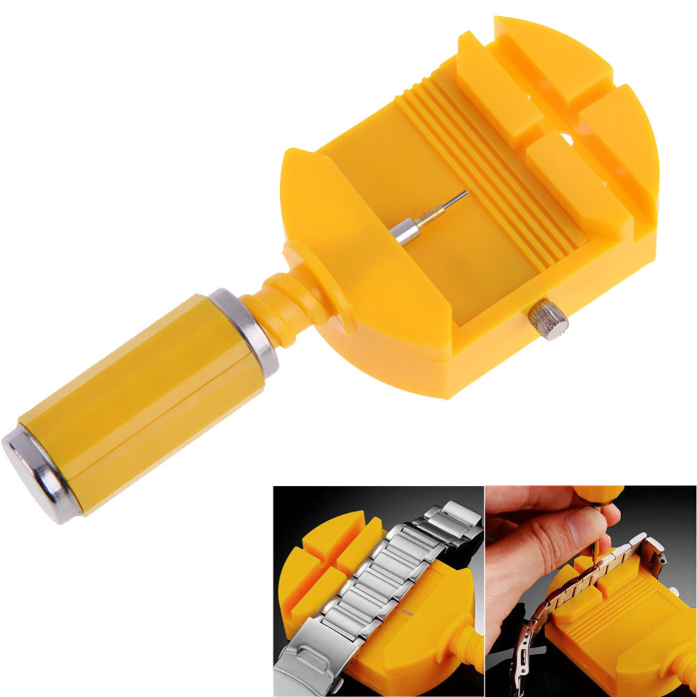 цена на Watch Link For Band Slit Strap Bracelet Chain Pin Remover Watch Tools Adjuster Watch Repair Tool Kit 28mm