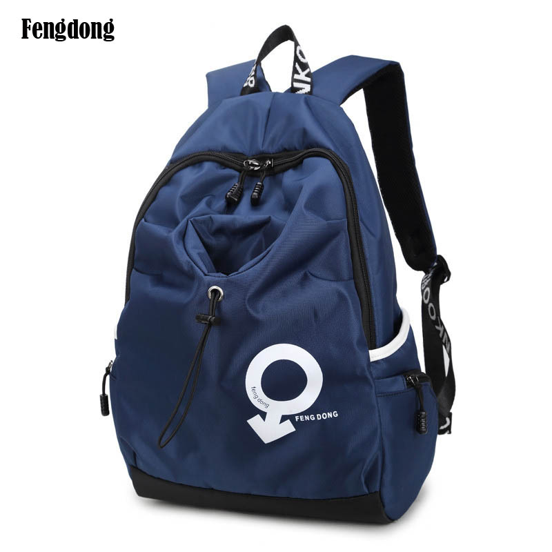 f6ecc1d308f4 Blue waterproof fabric kids school bag boy laptop backpack men travel bags  bagpack women shoulder bag small bookbag