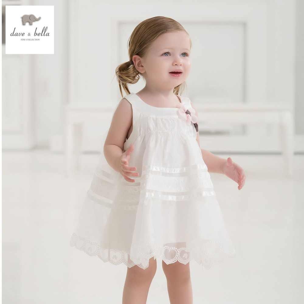 DB1553 dave bella summer baby dress infant clothes girls party dress fairy dress toddle 1 pc kid princess dress