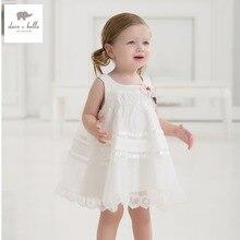 DB1553 дэйв белла лето детское платье детская одежда девочки платье фея платье toddle 1 шт. малыш платье принцессы
