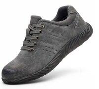 Biqueira de Aço Botas de trabalho de Construção Ao Ar Livre dos homens Sapatos Homens Camuflagem À Prova de Punção y Sapatos de Segurança Plus Size|Botas de segurança| |  -