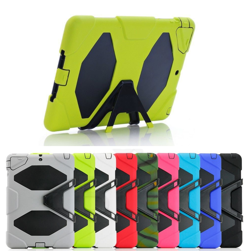 Tablets & e-Books Case  Hard Rugged Heavy Duty ShockProof Dirt Proof Armor protective Case Cover For apple ipad 6/air 2 for amazon 2017 new kindle fire hd 8 armor shockproof hybrid heavy duty protective stand cover case for kindle fire hd8 2017