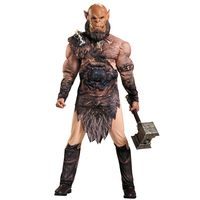 Adult WOW Movie Character Cosplay Orc Warrior Orgrim Doomhammer Muscle Halloween Costume