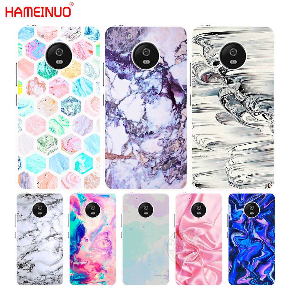 HAMEINUO Marble Paper case cover for Motorola Moto G6 G5 G5S G4 PLAY PLUS  ZUK Z2 pro