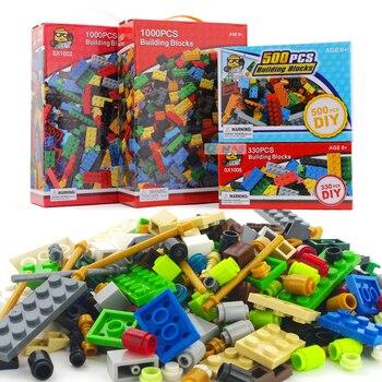 Vente 1000 pièces Blocs de Construction Briques DIY Legoings Ville Creative Briques Jouet Éducatif En Vrac Jouets pour Enfants Cadeau De Noël