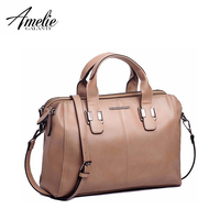 Amelie galanti женская сумка с ручкой сверху просто подушка сумка женская кожаная молния большая Повседневная сумка Высокое качество Винтажный с...