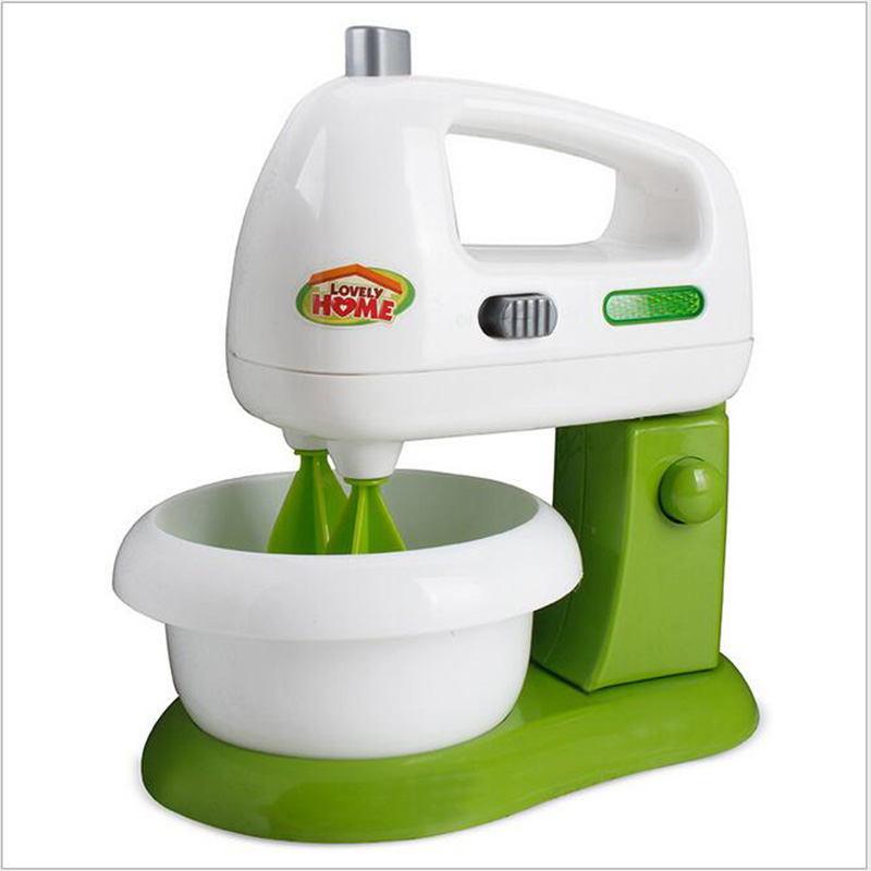 Lovely Green Food Blender Mixer Models Toys For Children Gifts Pretend Play Kitchen Toys Gifts