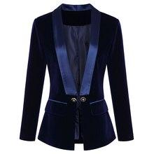 Blazer de manga longa de veludo, nova jaqueta de grife para mulheres, alta qualidade, 2020 designer