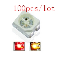 100cs/lot Red&Yellow Bicolor Smd Led 3528 Light Diode 1210 Surface Mount Chip Led Light Emitting Diode CE&Rohs