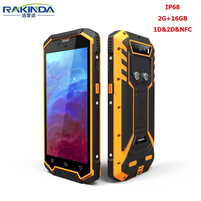 Rakinda S2 Plus-2G/16 ГБ IP68 Android 5,1 КПК 2D сканера штриховых кодов с NFC для инвентаризации Управление и логистики
