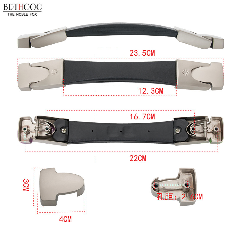 BDTHOO 23.5cm Replacement Luggage Suitcase Handle Box Parts Grip Spare Fix Holders Pull Carry Strap Luggage Accessories