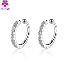 Nowy 925 Sterling Silver Ear Cuff Crystal nausznice Earcuff Femme 2020 biżuteria Oorbellen