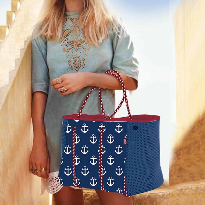 2019 femmes sac de plage sac à main en néoprène mode trapèze fourre-tout Messenger sacs femmes sac à bandoulière designer sac de yoga - 3