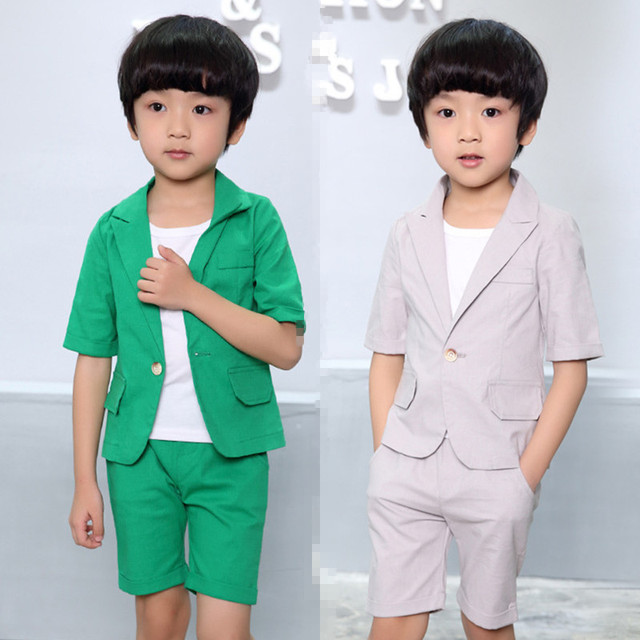 2017 new Arrival Summer Baby Suits 2 10Years Boys Prom suits Short ...