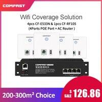 Comfast E533N USB порт Wi Fi в стене AP 4 шт. + 4 порта POE питания AC управление маршрутизатор для дома/квартиры/отеля Wifi покрытие решение
