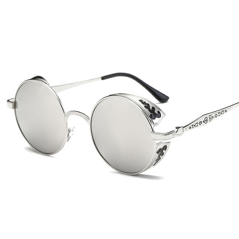 Metal Frame Vintage Round Sunglasses Men Polarized Lunettes Rondes Unisex Steampunk Goggles Zonnebril Mannen Shades for Women 3