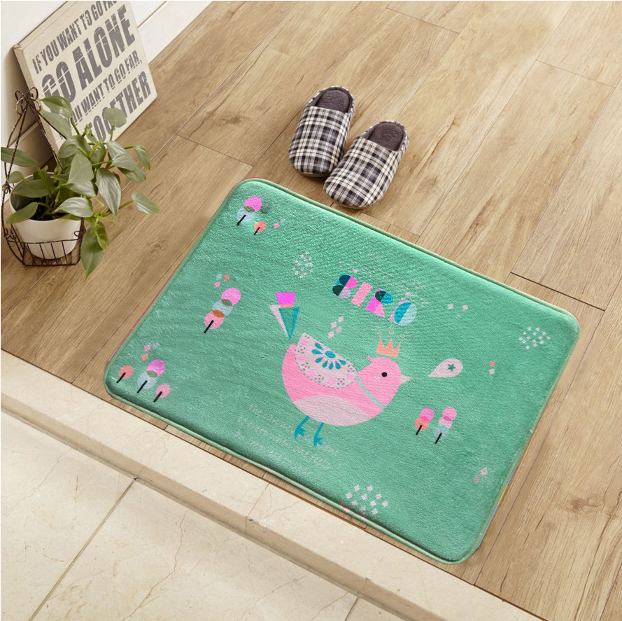 Lover Flamingo Soft Flannel Yoga Mat Rug Floor Bathmat Round Area Rugs Non-slip