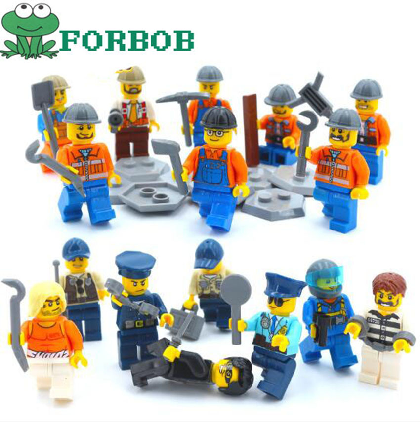 8pcs/lot City Police Engineer Model Building Blocks Figurines toys set 2018 New Occupations Persons plastic model building kits8pcs/lot City Police Engineer Model Building Blocks Figurines toys set 2018 New Occupations Persons plastic model building kits