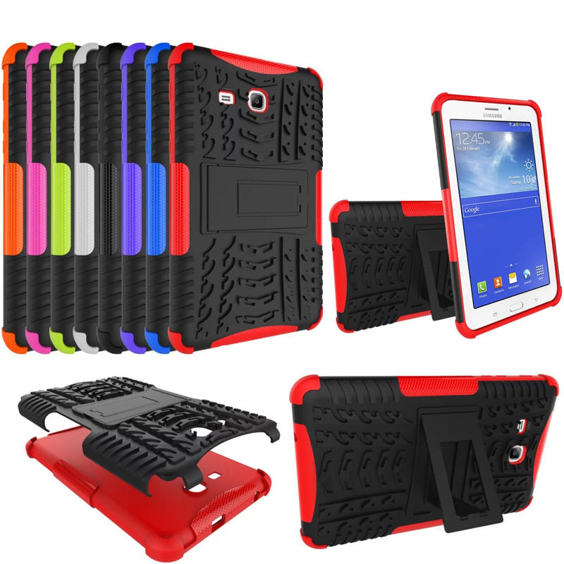 Shockproof Heavy Duty Rubber Hard Case font b Cover b font For Samsung Galaxy Tab 3