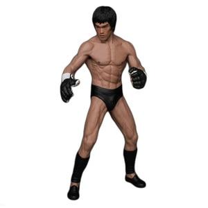 Image 1 - 19 سنتيمتر بروس لي القتال النسخة البلاستيكية عمل الشكل دمية على شكل عروسة Brinquedos