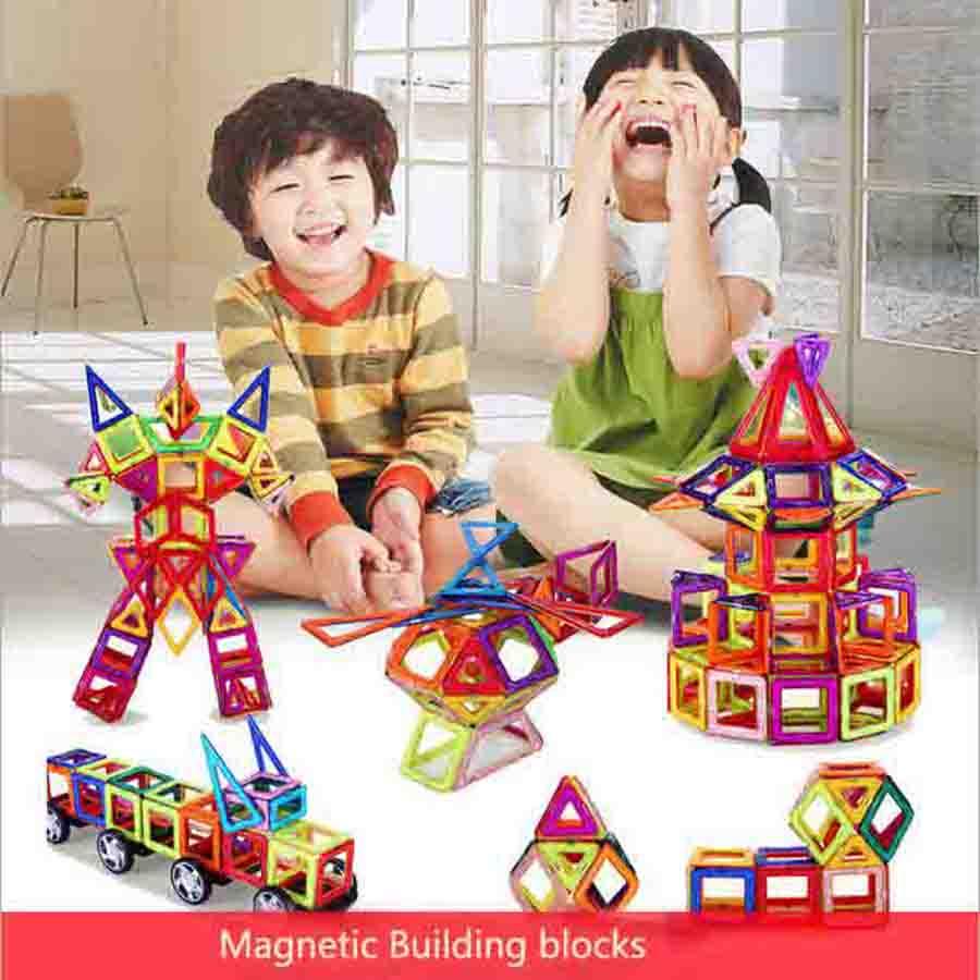 Magnetic Toy Mini Magnetic Models & Building Kits Blocks Construction Designer Children Educational Kids Toys mtele brand 62 pcs pcs magnetic tiles designer construction kids educational toys creative bricks enlighten toy