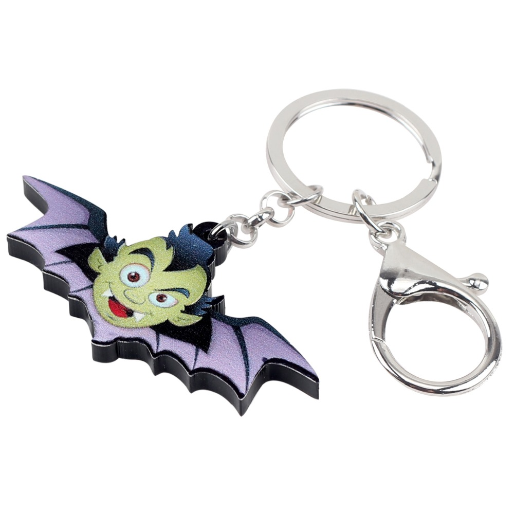 Acrylic Novelty Dragon KeyChain Ring For Women Kid Wallet Car Key Holder Jewelry