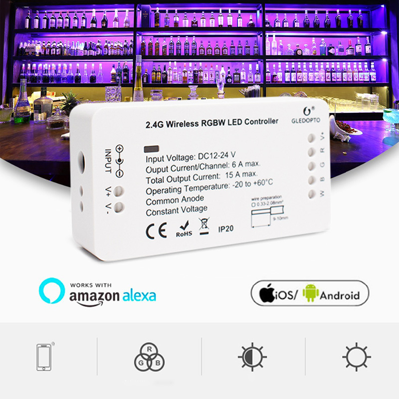 High Quality For Philips Voice Light For ZigBee RGBW Intelligent 4 tone With LED Wireless Music Controller Home