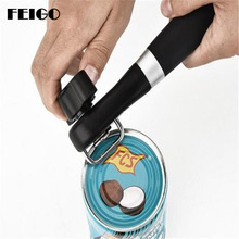 FEIGO Openers Adjustable Can Opener Stainless Steel Manual Can Opener Bottle Opener Easy Can  Opener Kitchen Accessories G631 single handle can safe can opener kitchen can plastic can opener manual bottle opener