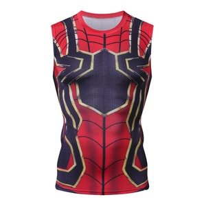 2018 Avengers 3 żelaza Spiderman kulturystyka Fitness odzież G ym Tank Top mężczyźni Gorilla zużycie kamizelka podkoszulek Musculation Tank tops