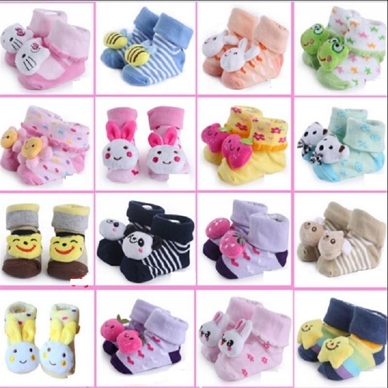 Meias recém-nascidos Meias 0-12month Bebê Sock para meninas meias pantufa Infantil Bebe Sock algodão não-deslizamento sapato