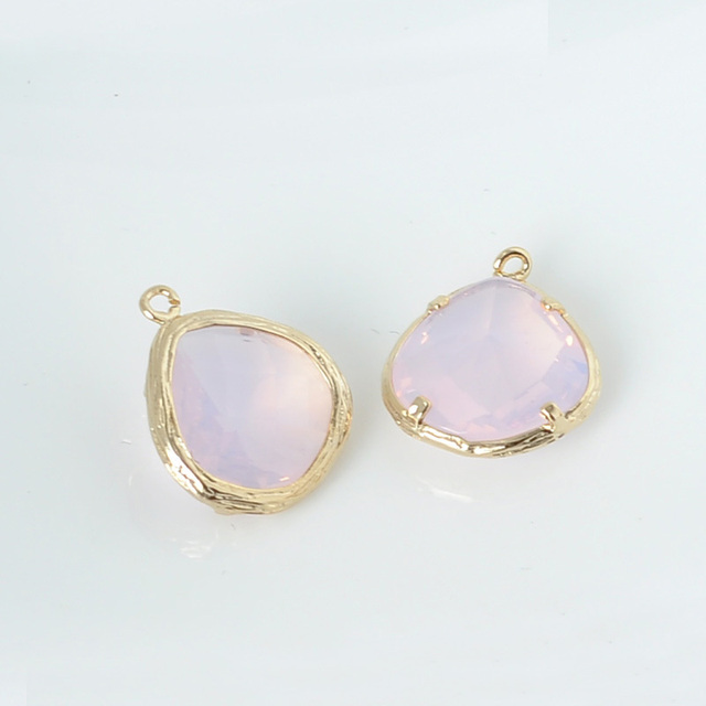 Wholesale glass pendants drops with gold textured bezel frame diy wholesale glass pendants drops with gold textured bezel frame diy jewelry pendant pink beads 13 mozeypictures Image collections
