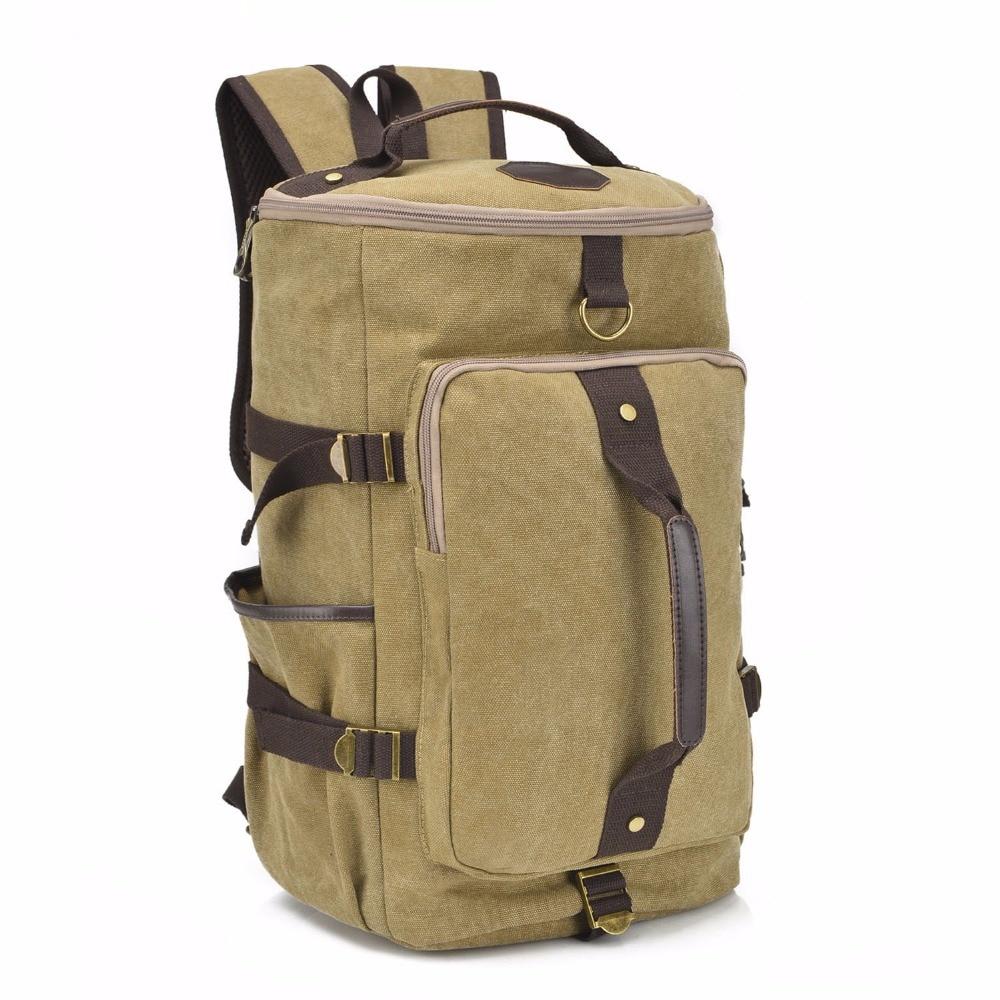Large Capacity Travel Bags Backpack Canvas Vintage Bucket Bag Shoulder Bag, Travel Accessories