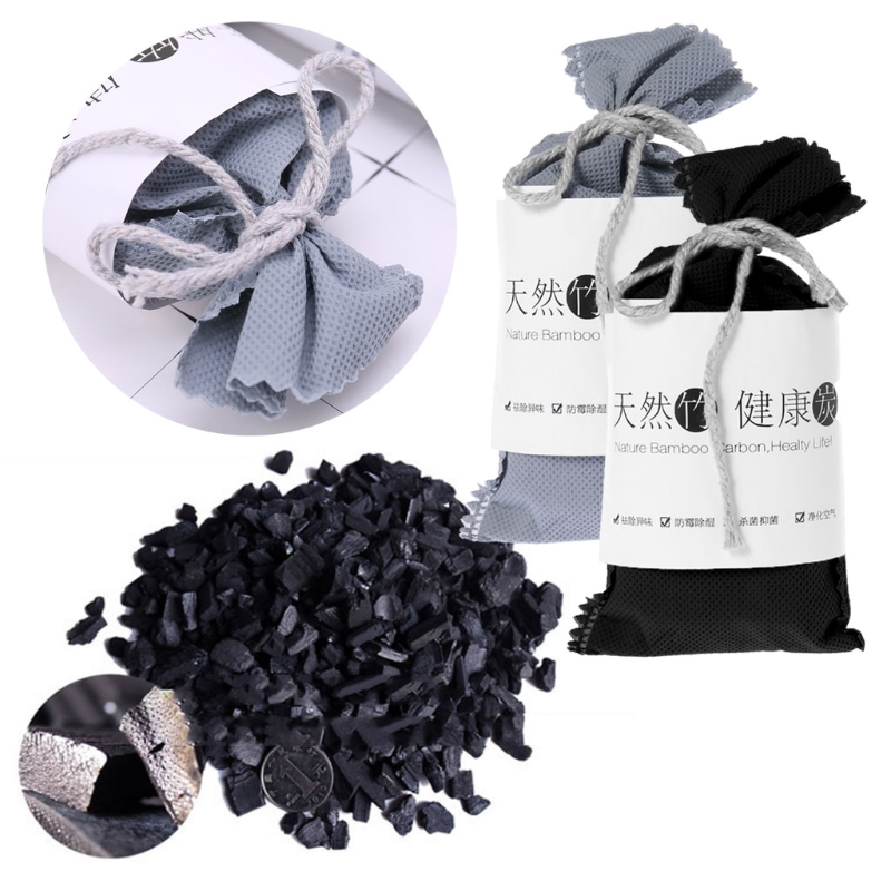 50g Car Home Air Freshener Purifier Odor Absorber Activated Carbon Bamboo Charcoal Bag Closet Shoe Deodorant Deodorize