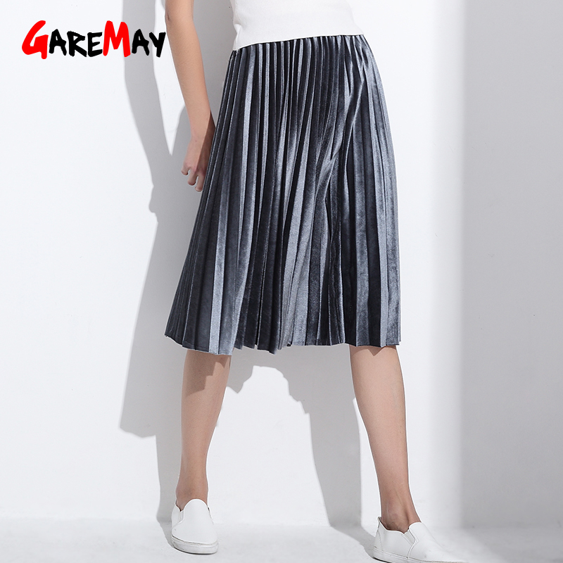 Vrouwen rok geplooide faldas largas jupe femme lange warme hoge - Dameskleding