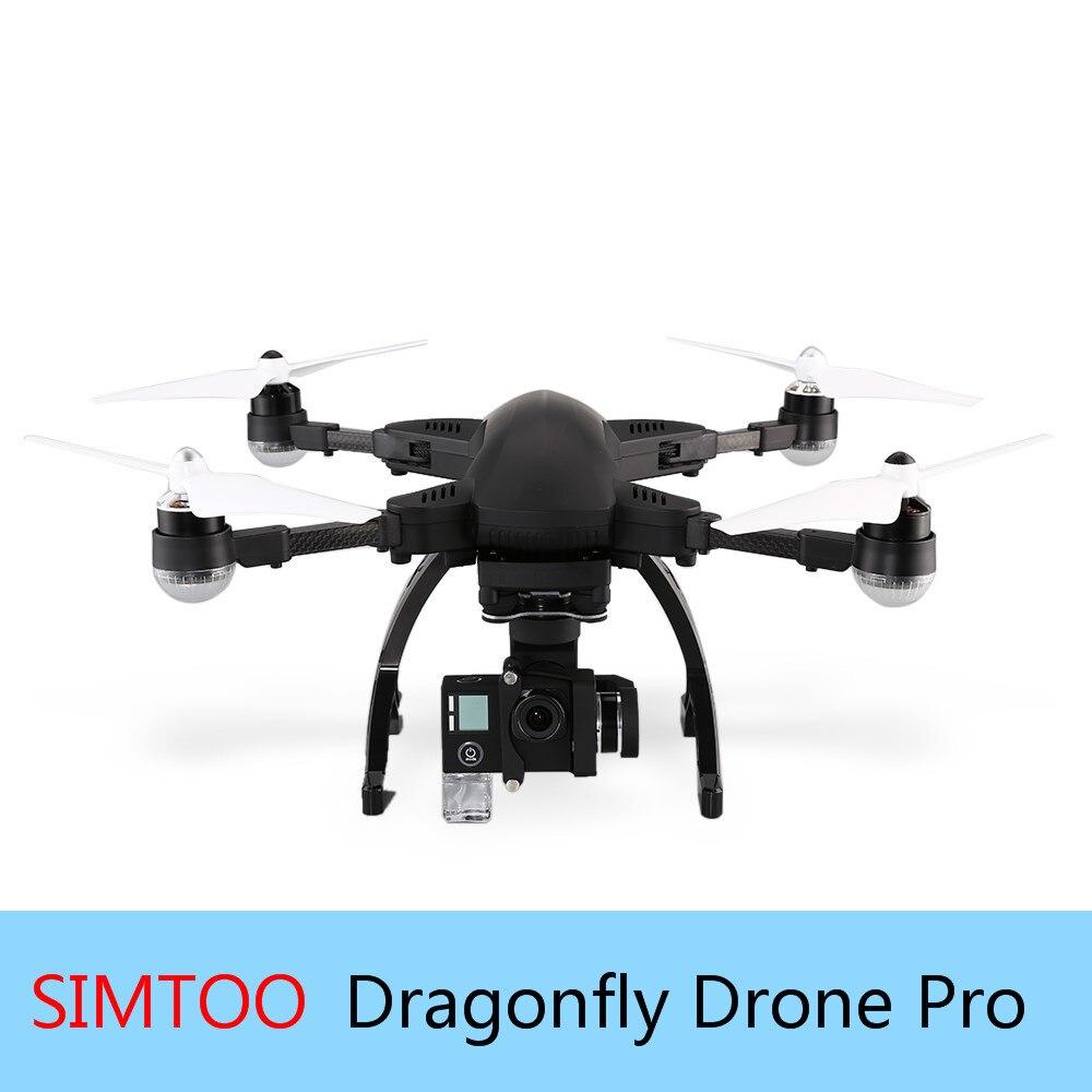 Libélula 2 Simtoo FPV Zangão UAV Profissional Com Wi-fi 4 K HD GPS Câmera DO Relógio Me Seguir o Modo de Controle Remoto Dobrável zangão