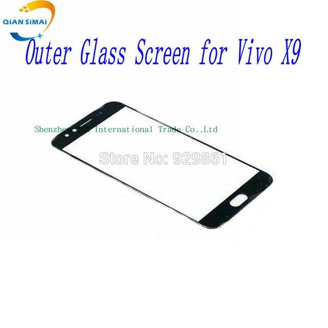 QiAN SiMAi 1PCS New Front Outer Glass Touch Screen (No Digitizer) Lens Repair For BBK Vivo X9 Vivo X9 Mobile Phone