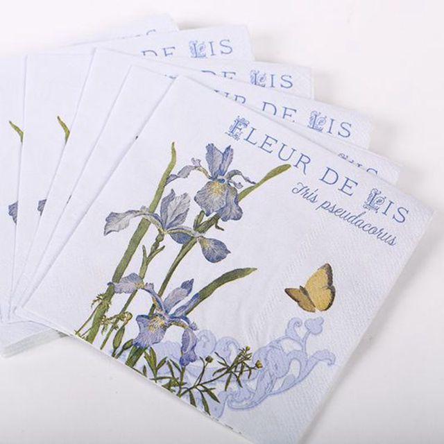 Tail Napkins Orchid Paper For Decoupage 25 25cm 3 Ply Purple