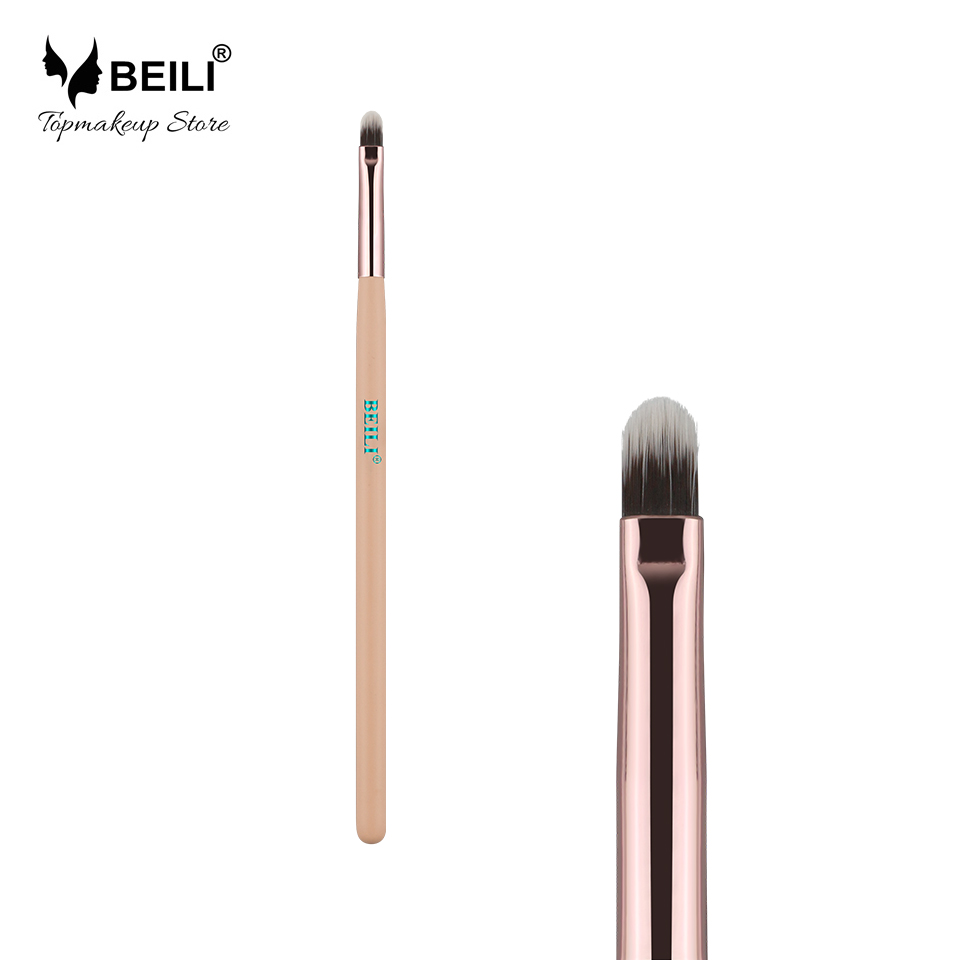 BEILI Luxe Rose Golden Black Eye Ögonbryn Liner Lip Concealer Singel Makeup Brush Pink Professional verktyg