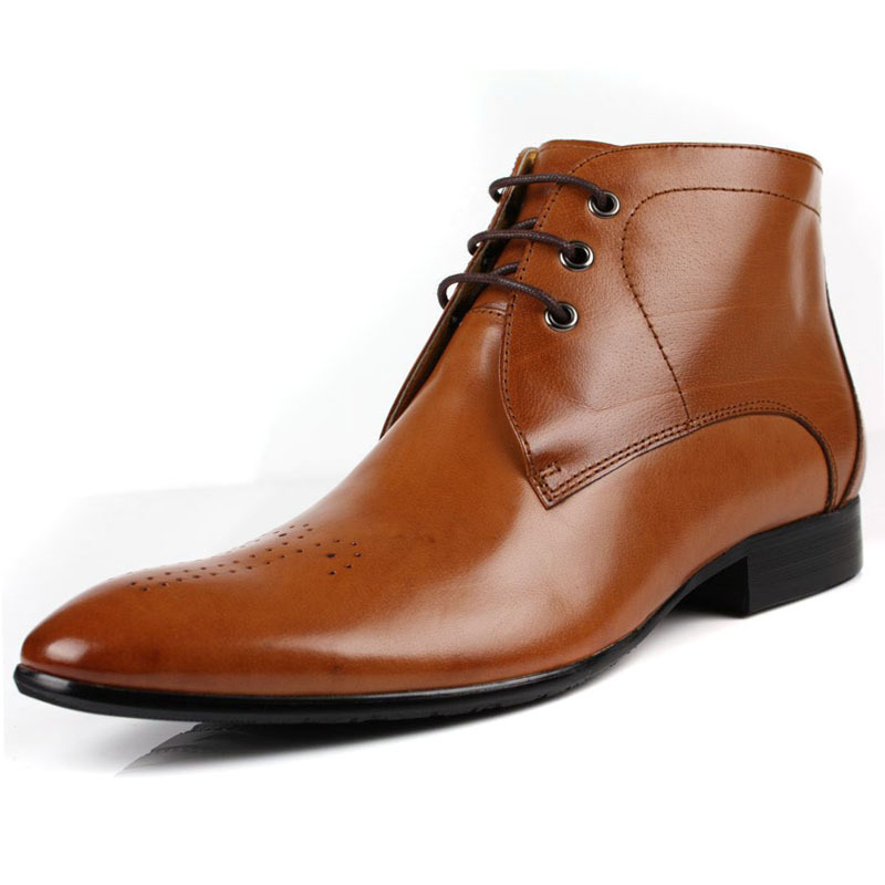 cdce4f646e506 British style brand new black/brown tan mens ankle boots soft genuine  leather casual boots men motorcycle shoes man office shoes