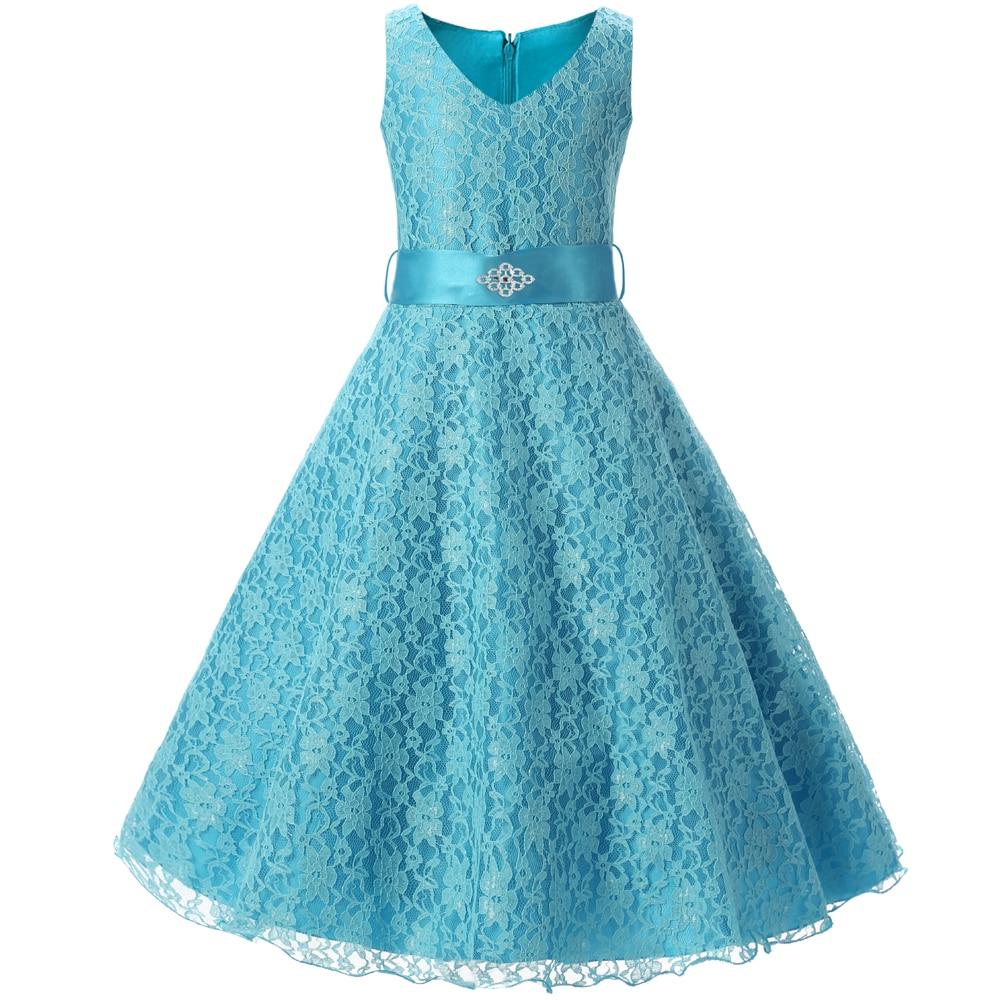 Wedding Party Princess Girl Dress Formal Wear 8 9 10 11 12 Years ...