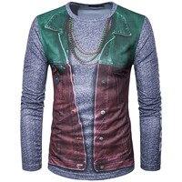 Hot 2017 New Fashion 3D Printed Design T Shirts O Neck Slim Men T Shirt Casual
