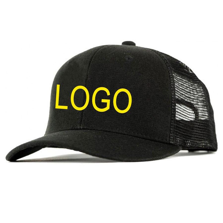 Camionneur chapeaux broderie gratuite votre marque LOGO adulte visière soleil chapeaux maille filet arrière chapeaux et casquettes accessoires de vêtements