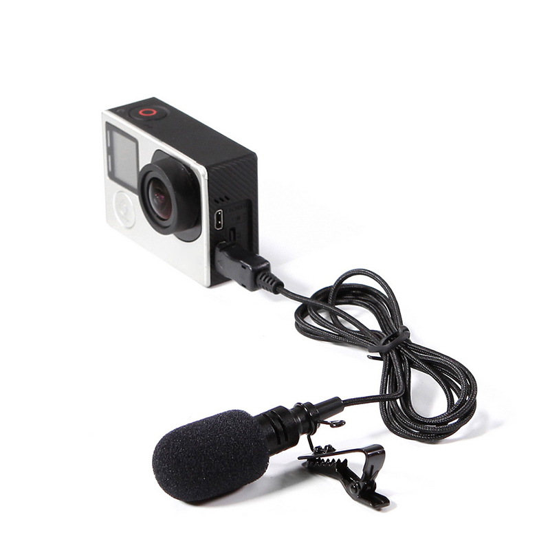 USB Stereo External Microphone High Fidelity Microphone For GoPro Hero 4 3 3+ Action Camera ND998