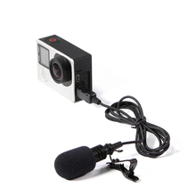 USB Stereo External Microphone High Fidelity for GoPro Hero 4 3 3+ Action Camera ND998
